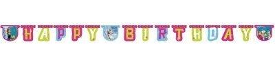 Frozen–Gamma Zubehör für Party Disney Frozen Original 1x Jointed Letter Banner (2.15m ()