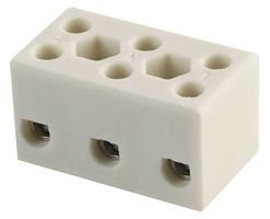 Ceramic Terminal Block (TERMINAL BLOCK, CERAMIC, 4MM, 3-WAY HYSTB-0403 By HYLEC-APL)
