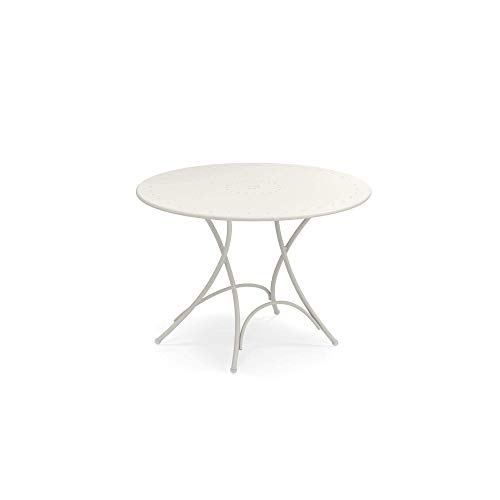 Lifetime Table ronde pliante Blanc Granite 108 x 34 x 3,8 cm ...