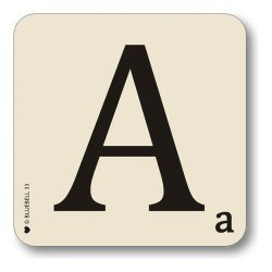 Bluebell Alphabet Coasters - Personalise Table Family Names Words