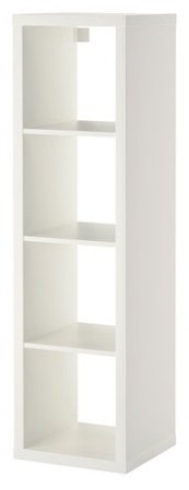 IKEA Kallax - Mueble rectangular de 4 estantes, Blanco, 42x147 cm