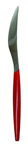 Novastyl 6105201 Lot de 6 Couteaux Plastique Neutre/Rouge 23,4 x 21 x 1 cm