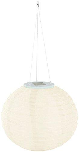 Lunartec Solar Laternen Lampions: Solar-LED-Lampion, Dämmerungs-Sensor, IP44, warmweiß – 3er-Set - 6