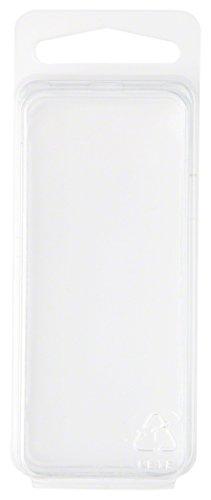 Plástico Transparente Concha del paquete/Contenedor de almacenamiento, 2,94'H x 1,25' W x 1D, 50unidades)