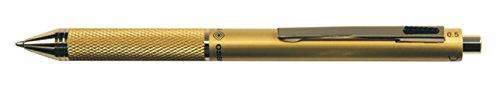QUADRA penna design 4 funzioni fusto in metallo satinato oro