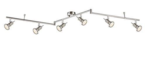 18 Watt LED Deckenleuchte Nickel 3000 Kelvin Arbeitszimmer beweglich Globo 54382-6