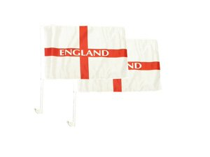 England St.George Autofahnen - 2er Pack