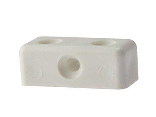 Bulk Hardware bh03654Bescheidenheit Block, weiß, 50Stück