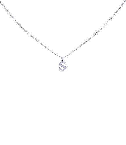 SIX Silber Buchstaben Kette, Halskette mit Buchstaben Anhänger