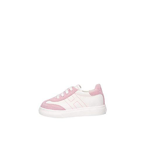 Hogan Junior HXT3400BL80KNK239M Sneakers Bambina Bianco/Rosa 24