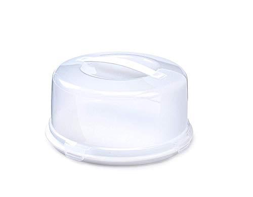 Whitefurze rund Kuchen Box, Kunststoff, weiß
