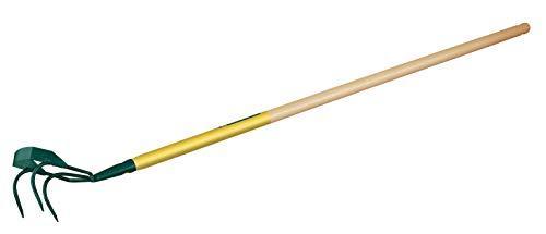Leborgne Griffe piocheuse avec grattoir, 3 dents spatulées, Léger, Largeur: 13 cm, Manche : 150 cm, Acier