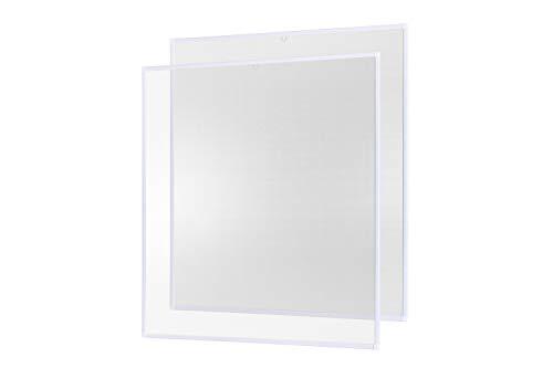Insektenschutz Fenster Fliegengitter Basic 80 x 100 cm 2er Set weiß