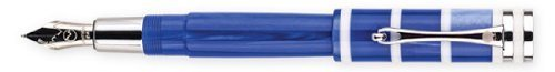 Monteverde Catalina Blue Pearl Fine Point Fountain Pen - MV35130F by Monteverde