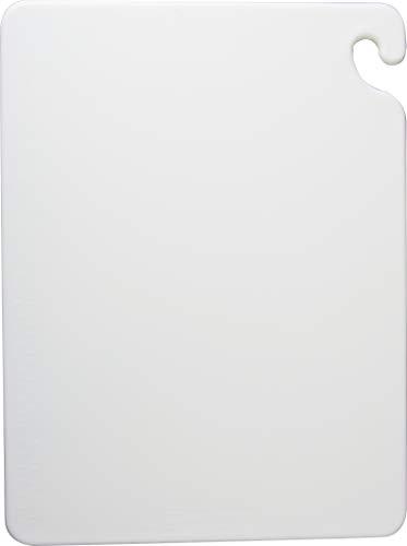 San Jamar CB101212WH Cut-N-Carry Co-Polymer Cutting Board, 12