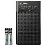 Sony Portable AM/FM Transistor Radio with Built-in Speaker, Headphone Jack, LED Tuning Indicator