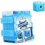 OICEPACK freezer Blocks for Cool Bags, confezioni riutilizzabile Ice Cube a lunga durata per bambini scuola Coolers pranzo scatole piccole e slim Blue Gel 6PCS