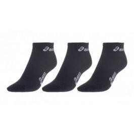 Asics 3PPK Quarter - Calcetines de running, tamaño S, color negro