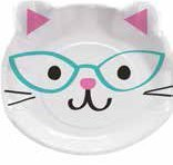 Purrfect Party Assorted Kitten Shaped Plate