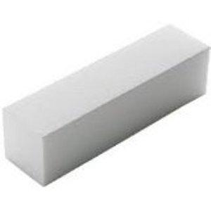 Bahia Nails - Lot De 3 Bloc Blanc Buffer Manucure et Faux Ongles - Bloc Polissoir Blanc 4 Faces
