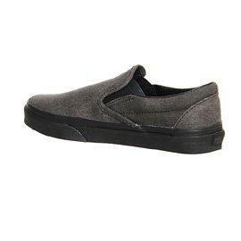Vans U Classic Slip-on Overwashed, Unisex-Erwachsene Sneakers dunkelgrau / schwarz