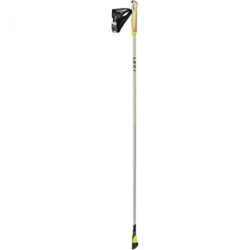 LEKI Smart Carbon Nordic-Walking-Stock, White, 110 cm