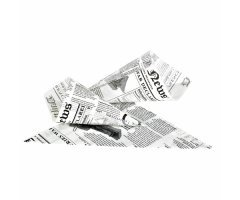 FIRSTPACK Lot de 1000 cones papier frites 220 x 220 mm impression journal Daily News - Papier laminé ingraissable et apte au contact alimentaire