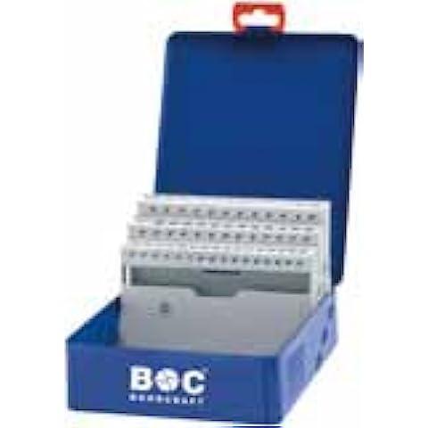Bohrcraft 00801520051 - Caja de metal vacía para brocas helicoidales (acero, capacidad de 50 piezas), color azul