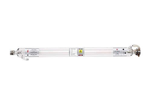 TEN-HIGH Tubo Láser con recubrimiento 50W CO2 longitud de 800mm, diámetro de 50mm para Láser Máquina de Grabado, Cortador, engraving cutting machine, DIY