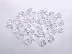 BUDILA® Dekosteine mini Dekoeis kristallklar Eis Optik 200 Stück Acryl Tischdekoration für Hochzeit