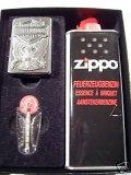 Zippo Feuerzeug Harley Davidson Eagle Emblem Geschenk-Set