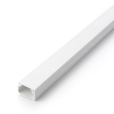 2602–2passe-câbles 200x 2,5x 1,6cm (L/B/H)–Couvercle Extensible, autocollant (Blanc)