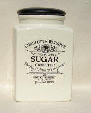 Charlotte Watson Large Square Sugar Jar