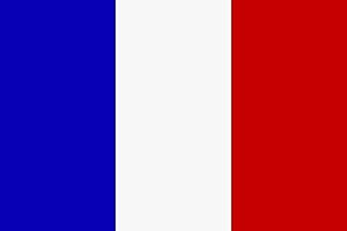 U24 Aufkleber Frankreich Flagge Fahne 8 x 5 cm Autoaufkleber Sticker -