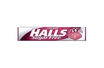 Halls Cherry Mentho-Lyptus S/Free (box of