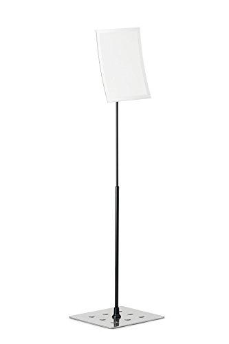 DURABLE 498123 - Duraview Table, espositore da pavimento con cornice magnetica Duraframe Magnetic, f.to A4, argento metallizzato