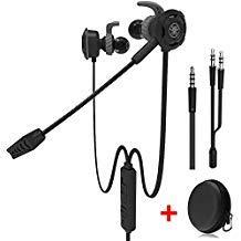 Kabelgebundener Gaming-Kopfhörer mit verstellbarem Mikrofon für PS4, Xbox, Laptop-Computer, Mobiltelefon, DLAND E-Sport-Ohrhörer mit tragbaren Taschen, weiches Design (schwarz)