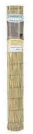Verdemax 6700 Roher Bambuszaun,1x 3m, mit Nylonfaden verbunden