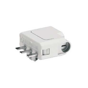 Fiche pour connexion luminaire définitif - 2P+T - 6 A - 250 V CA