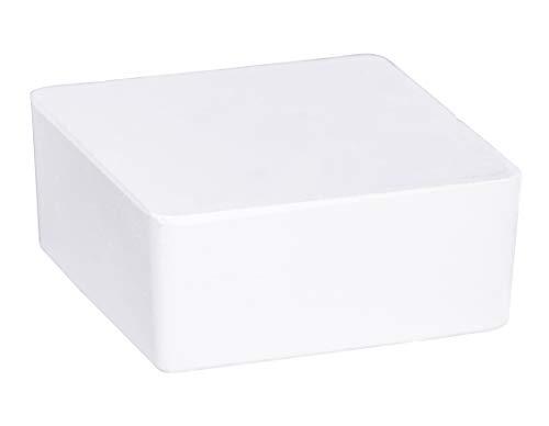 WENKO 50260100 Raumentfeuchter Cube Nachfüller 500 g, Luftentfeuchter, Nachfüllpack, Calciumchlorid, 10 x 10 x 5 cm, weiß