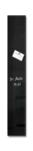 Sigel GL100 kleines Glas-Magnetboard 12 x 78 cm schwarz / Magnetleiste artverum - weitere Farben