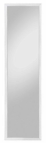 lifestyle4living Spiegel, Rahmenspiegel, Wandspiegel, Aufhängung, weiß, 35x125 cm