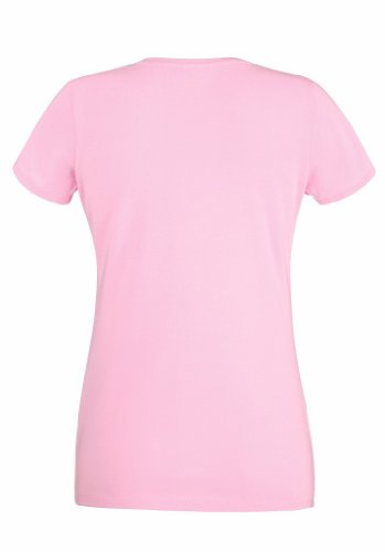 Fruit of the loom lady-fit crew neck 61–378–0 t Rose - Rose clair