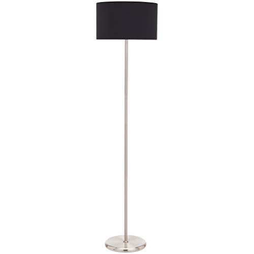 UMI Floor Standing Lamp Fabric Shade Cilindrical, Black, 56.8''