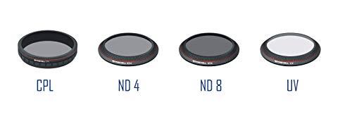 Freewell CPL ND4 ND8 UV - Confezione da 4 filtri per obiettivo fotocamera, compatibili con DJI Inspire Z3/X3/OSMO/OSMO+