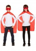 Kind Superhero Cape und Maske Set One Size rot