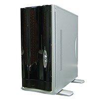 AOpen Computer H600C PC Gehäuse MidiTower 4 x 5.25 Silber & Schwarz