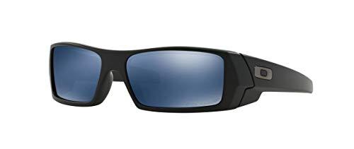 Oakley Herren Sonnenbrille Gascan Schwarz (Matte Black/Ice Iridium Polarized), 61