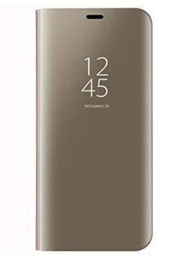 BCIT Xiaomi Redmi 5 Plus Funda - Modelo inteligente Fecha / Hora Ver Espejo Brillante tirón del caso duro Con para el Xiaomi Redmi 5 Plus - Oro