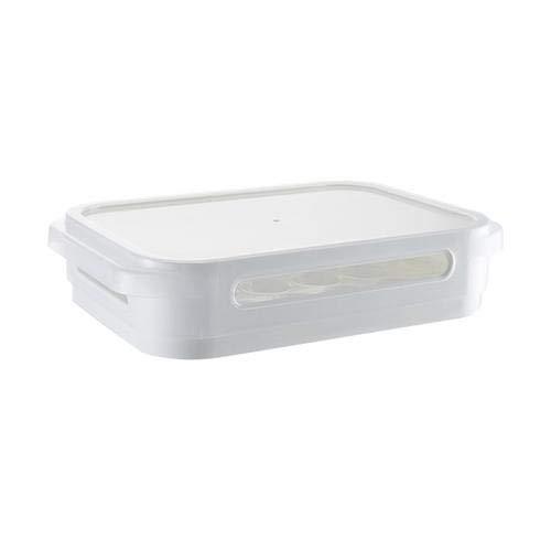 beautygoods eierbehälter für kühlschrank eiereinsatz Eierbox mit Deckel für 24 Eier, Single Layer Kühlschrank Lebensmittel Eier luftdicht Lagerbehälter Kunststoff Box, groß, Transparent
